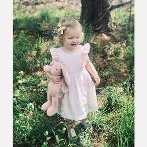 Maggie & Zoe Pink Pinafore Ruffle Dress